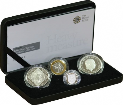 2008 Silver Proof Piedfort Set - 4 coin set